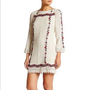 ALICE+OLIVIA Riska Embroidered Cotton-Gauze Dress